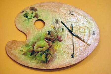 Часы из тарелки своими руками фото 105