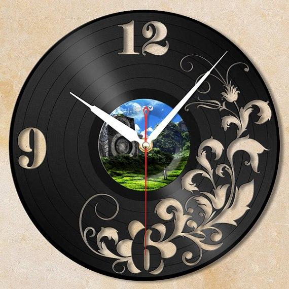 Виниловые часы своими руками