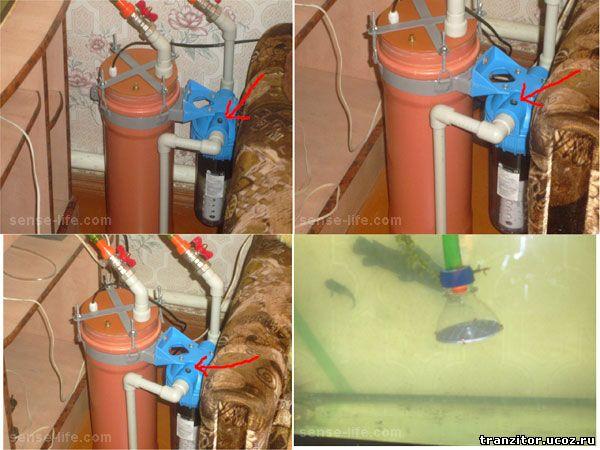 самодельный внешний фильтр для аквариума