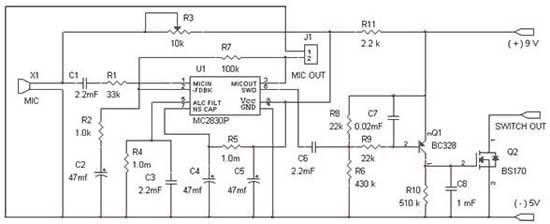 Скачать Схема голосового,автоматического выключателя освещения с удалённого сервера.