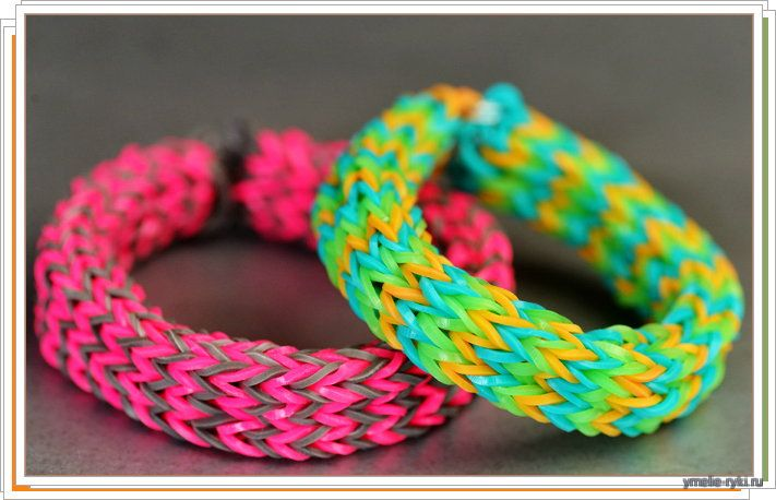 Плетение браслетов из резинок