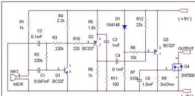 Радио схема голосового выключателя еще выделяется несложностью и использованием обычных элементов.