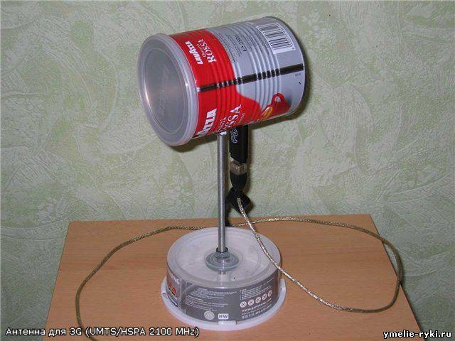 Как сделать из подручных материалов антенну