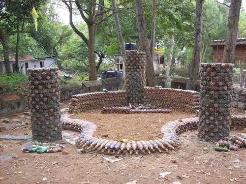 Делаем пальму из пластиковых бутылок своими руками