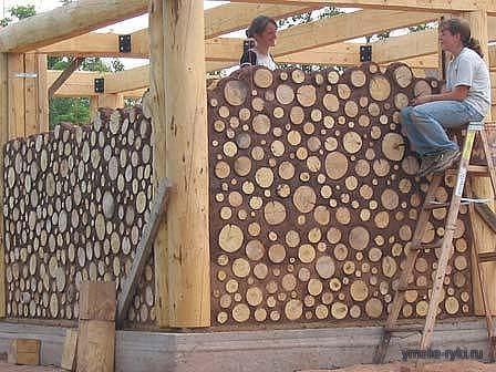 Дом из простых дров